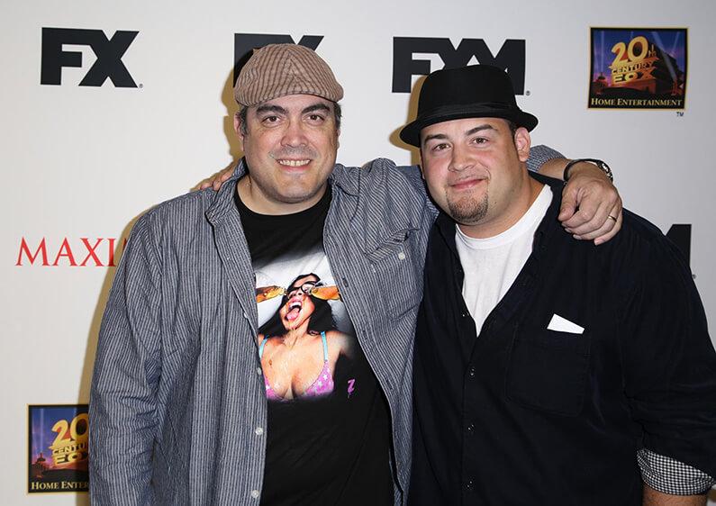 L'acteur David Zayas et son fils