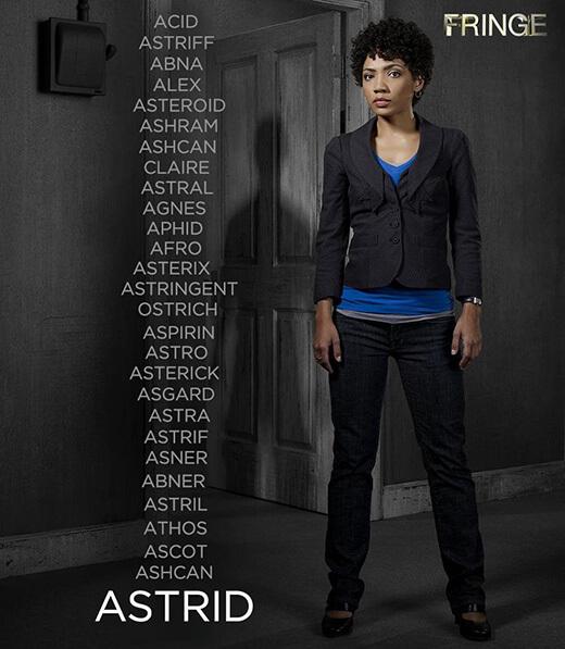 Astrid de Fringe et tous les prénoms que lui donne Walter