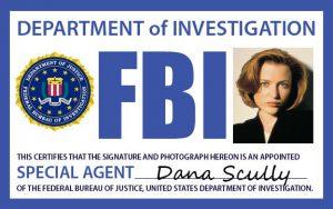 Le badge de Scully dans X-Files