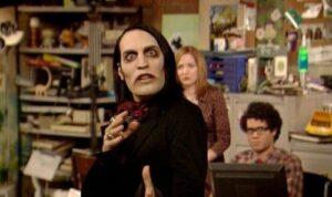 Noel Fielding dans le rôle du gothique Richmond dans The IT Crowd