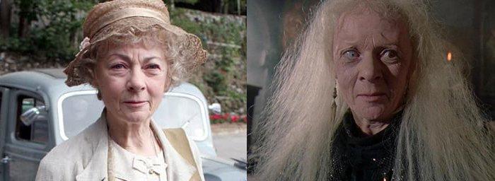 Geraldine McEwan dans les rôles de Miss Marple et de Mortianna dans Robin des bois