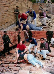 Comparaison du visuel de la mort d'Escobar entre Narcos et la réalité