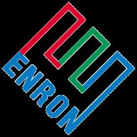 Le logo de la société américaine Enron semblable au logo de Ecorp dans Mr Robot